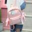[ พร้อมส่ง ] - กระเป๋าเป้แฟชั่น สีชมพู สุดเท่ ดีไซน์สวยเก๋ไม่ซ้ำใคร สวยสุดมั่น เหมาะกับสาว ๆ ที่ชอบกระเป๋าเป้น้ำหนักเบาๆ thumbnail 5