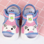 รองเท้ารัดส้น เปิดหน้าระบายอากาศ ลายหมีสีฟ้าอ่อนกุ้นชมพู Size 17-22 thumbnail 3