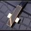 [ พร้อมส่ง ] - กระเป๋าแฟชั่น ถือ/สะพาย สีดำ หนังแก้วคุณภาพ อัดลายหนังจระเข้มันเงา ทรงตั้งได้ ดีไซน์สวยเรียบหรู ดูดี งานหนังสวยค่ะ thumbnail 12