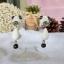 ต่างหูดินปั้น น้องหมาแพนด้า Panda dog Earrings thumbnail 3