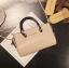 [ พร้อมส่ง ] - กระเป๋าถือ/สะพาย สีครีม ขนาดกระทัดรัด ดีไซน์สวยเรียบหรู ดูดี งานหนังมันเงาสวย คุณภาพดีค่ะ thumbnail 1