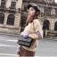 [ พร้อมส่ง ] - กระเป๋าแฟชั่น คลัทช์/สะพาย สีดำเงินวิ้งค์ๆ ทรงกล่องสี่เหลี่ยม ขนาดกระทัดรัด ดีไซน์สวยเรียบหรู ดูดี งานสวยค่ะ thumbnail 7