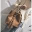 [ พร้อมส่ง ] - กระเป๋าถือ/สะพาย สีน้ำตาลเรโทร ทรงขนมจีบตั้งได้ ดีไซน์สวยเรียบหรู ปีกหมุดเท่ๆ ใบกลางๆ งานหนังคุณภาพสวยมากค่ะ thumbnail 5