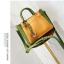 [ พร้อมส่ง ] - กระเป๋าถือ/สะพาย สีทูโทนเหลืองเขียว ใบเล็กกระทัดรัด ตกแต่งโลโก้ F เก๋ๆ ดีไซน์สวยเรียบหรู ดูดี งานหนังคุณภาพดี thumbnail 12