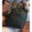 [ พร้อมส่ง Hi-End ] - กระเป๋าเป้แฟชั่น สีเขียวเข้ม ดีไซน์สวยเรียบหรู ดูดีสไตล์แบรนด์ งานหนังคุณภาพดี ช่องเยอะงานสวย thumbnail 11