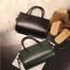 [ พร้อมส่ง ] - กระเป๋าถือ/สะพาย สีเขียวเข้ม ขนาดกระทัดรัด ดีไซน์สวยเรียบหรู ดูดี งานหนังมันเงาสวย คุณภาพดีค่ะ thumbnail 3