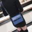 [ พร้อมส่ง ] - กระเป๋าถือ/สะพาย สีน้ำเงินเข้ม วิ้งค์ๆ ขนาดกระทัดรัด ดีไซน์สวยเรียบหรู ดูดี งานหนังสวยค่ะ thumbnail 8