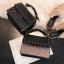 [ พร้อมส่ง ] - กระเป๋าถือ/สะพาย สีดำคลาสสิค วิ้งค์ๆโทนรุ้ง ขนาดกระทัดรัด ดีไซน์สวยเรียบหรู ดูดี งานหนังสวยค่ะ thumbnail 6