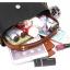 [ พร้อมส่ง ] - กระเป๋าสะพายแฟชั่น สีดำสายคาดน้ำตาล ทรงถังตั้งได้ ดีไซน์สวยเรียบหรู ดูดี งานหนังคุณภาพดี พร้อมสายสะพายสุดเก๋ + แถมฟรีปอมๆ thumbnail 23