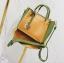 [ พร้อมส่ง ] - กระเป๋าถือ/สะพาย สีทูโทนเหลืองเขียว ใบเล็กกระทัดรัด ตกแต่งโลโก้ F เก๋ๆ ดีไซน์สวยเรียบหรู ดูดี งานหนังคุณภาพดี thumbnail 6