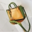 [ พร้อมส่ง ] - กระเป๋าถือ/สะพาย สีทูโทนเหลืองเขียว ใบเล็กกระทัดรัด ตกแต่งโลโก้ F เก๋ๆ ดีไซน์สวยเรียบหรู ดูดี งานหนังคุณภาพดี thumbnail 14