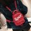 [ พร้อมส่ง ] - กระเป๋าเป้แฟชั่น สไตล์ยุโรป สีแดง Spur ใบเล็กกระทัดรัด ดีไซน์สวยเก๋ไม่ซ้ำใคร เหมาะกับสาว ๆ ที่กำลังมองหากระเป๋าเป้ใบจิ๋ว thumbnail 4
