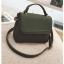 [ พร้อมส่ง ] - กระเป๋าถือ/สะพาย สีเขียวเข้ม ขนาดกระทัดรัด ดีไซน์สวยเรียบหรู ดูดี งานหนังแบบด้าน คุณภาพดีค่ะ thumbnail 11