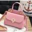 [ พร้อมส่ง ] - กระเป๋าแฟชั่น ถือ/สะพาย สีชมพู ขนาดกระทัดรัด ปักหมุดเท่ๆ ทรงตั้งได้ ดีไซน์สวยเก๋ ดูดี งานหนังสวยมากค่ะ thumbnail 7
