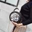 [ พร้อมส่ง HI-End ] - กระเป๋าแฟชั่น ถือ/สะพาย สีดำ ทรงกลมน่ารักๆ ปักตกแต่งลายดอกไม้สีดำ ขนาดกระทัดรัด สไตล์ดาราเกาหลี ดีไซน์สวยเก๋ ไม่ซ้ำใคร งานหนังคุณภาพ thumbnail 7