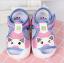 รองเท้ารัดส้น เปิดหน้าระบายอากาศ ลายหมีสีฟ้าอ่อนกุ้นชมพู Size 17-22 thumbnail 1