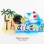 Magnet แม่เหล็กติดตู้เย็น วัสดุเรซิ่น ลายไทย ลวดลาย Thailand ปั้มลายเนื้อนูน ลงสีสวยงาม สินค้าพร้อมส่ง thumbnail 1