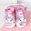 รองเท้ารัดส้น เปิดหน้าระบายอากาศ ลายหมีสีชมพู Size 17-22 thumbnail 1
