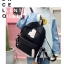 [ พร้อมส่ง ] - กระเป๋าเป้แฟชั่น สีดำ สุดเท่ ดีไซน์สวยเก๋ไม่ซ้ำใคร สวยสุดมั่น เหมาะกับสาว ๆ ที่ชอบกระเป๋าเป้น้ำหนักเบาๆ thumbnail 5