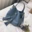 [ พร้อมส่ง ] - กระเป๋าถือ/สะพาย สีฟ้า ทรงขนมจีบตั้งได้ ดีไซน์สวยเรียบหรู ปีกหมุดเท่ๆ ใบกลางๆ งานหนังคุณภาพสวยมากค่ะ thumbnail 1