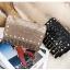 [ พร้อมส่ง Hi-End ] - กระเป๋าคลัทช์ สะพาย สีบรอนด์ทอง ดีไซน์สวยหรู ฟรุ้งฟริ้ง วิ้งค์ๆทั้งใบ ขนาดกระทัดรัด thumbnail 22
