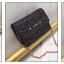 [ พร้อมส่ง ] - กระเป๋าแฟชั่น คลัทช์/สะพาย สีดำเงินวิ้งค์ๆ ทรงกล่องสี่เหลี่ยม ขนาดกระทัดรัด ดีไซน์สวยเรียบหรู ดูดี งานสวยค่ะ thumbnail 4