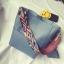 [ พร้อมส่ง ] - กระเป๋าสะพายไหล่แฟชั่น สีฟ้า ทรงถัง + กระเป๋าใบเล็ก 1 ใบ ดีไซน์สวยเรียบหรู ดูดี งานหนังคุณภาพดี พร้อมสายสะพายสุดเก๋ thumbnail 1