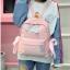 [ พร้อมส่ง ] - กระเป๋าเป้แฟชั่น สีชมพู สุดเท่ ดีไซน์สวยเก๋ไม่ซ้ำใคร สวยสุดมั่น เหมาะกับสาว ๆ ที่ชอบกระเป๋าเป้น้ำหนักเบาๆ thumbnail 6