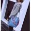 [ พร้อมส่ง ] - กระเป๋าสะพายไหล่แฟชั่น สีฟ้า ทรงถัง + กระเป๋าใบเล็ก 1 ใบ ดีไซน์สวยเรียบหรู ดูดี งานหนังคุณภาพดี พร้อมสายสะพายสุดเก๋ thumbnail 6