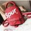 [ พร้อมส่ง ] - กระเป๋าเป้แฟชั่น สไตล์ยุโรป สีแดง Spur ใบเล็กกระทัดรัด ดีไซน์สวยเก๋ไม่ซ้ำใคร เหมาะกับสาว ๆ ที่กำลังมองหากระเป๋าเป้ใบจิ๋ว thumbnail 20