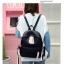 [ พร้อมส่ง ] - กระเป๋าเป้แฟชั่น สีดำ สุดเท่ ดีไซน์สวยเก๋ไม่ซ้ำใคร สวยสุดมั่น เหมาะกับสาว ๆ ที่ชอบกระเป๋าเป้น้ำหนักเบาๆ thumbnail 8