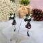 ต่างหูดินปั้น แมวดำ Choco cat Earrings thumbnail 2