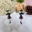 ต่างหูดินปั้น แมวดำ Choco cat Earrings thumbnail 1