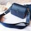 [ พร้อมส่ง ] - กระเป๋าถือ/สะพาย สีน้ำเงินเข้ม วิ้งค์ๆ ขนาดกระทัดรัด ดีไซน์สวยเรียบหรู ดูดี งานหนังสวยค่ะ thumbnail 2