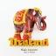 Magnet แม่เหล็กติดตู้เย็น วัสดุเรซิ่น ลายไทย ลวดลายช้างไทย ปั้มลายเนื้อนูน ลงสีสวยงาม สินค้าพร้อมส่ง thumbnail 1