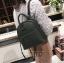 [ พร้อมส่ง Hi-End ] - กระเป๋าเป้แฟชั่น สีเขียวเข้ม ดีไซน์สวยเรียบหรู ดูดีสไตล์แบรนด์ งานหนังคุณภาพดี ช่องเยอะงานสวย thumbnail 3