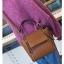 [ พร้อมส่ง ] - กระเป๋าถือ/สะพาย สีน้ำตาล ขนาดกลางๆ ดีไซน์สวยเรียบหรู ดูดี ไม่ซ้ำใคร งานหนังคุณภาพดีค่ะ thumbnail 5