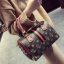 [ พร้อมส่ง Hi-End ] - กระเป๋าถือ/สะพาย ทรงหมอนใบกลางๆ สีแดง ลาย LV ดีไซน์สวยเรียบหรู ดูดีสไตล์แบรนด์ งานหนังคุณภาพดีแบบหนาไม่บาง thumbnail 9