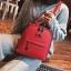 [ พร้อมส่ง Hi-End ] - กระเป๋าเป้แฟชั่น สีแดง ดีไซน์สวยเรียบหรู ดูดีสไตล์แบรนด์ งานหนังคุณภาพดี ช่องเยอะงานสวย thumbnail 3