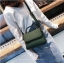 [ พร้อมส่ง ] - กระเป๋าถือ/สะพาย สีเขียวเข้ม ขนาดกระทัดรัด ดีไซน์สวยเรียบหรู ดูดี งานหนังแบบด้าน คุณภาพดีค่ะ thumbnail 7