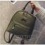 [ พร้อมส่ง Hi-End ] - กระเป๋าเป้แฟชั่น สีเขียวเข้ม ดีไซน์สวยเรียบหรู ดูดีสไตล์แบรนด์ งานหนังคุณภาพดี ช่องเยอะงานสวย thumbnail 10