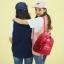 [ พร้อมส่ง ] - กระเป๋าเป้แฟชั่น สีดำคลาสสิค ปักหมุดเก๋ๆ สุดเท่ใบกลางๆ ดีไซน์สวยไม่ซ้ำใคร เหมาะกับสาว ๆ ที่ชอบกระเป๋าเป้ แถมเป๋าลูก thumbnail 4