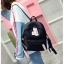 [ พร้อมส่ง ] - กระเป๋าเป้แฟชั่น สีดำ สุดเท่ ดีไซน์สวยเก๋ไม่ซ้ำใคร สวยสุดมั่น เหมาะกับสาว ๆ ที่ชอบกระเป๋าเป้น้ำหนักเบาๆ thumbnail 9