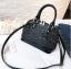 [ พร้อมส่ง ] - กระเป๋าถือ/สะพาย สีดำ ดีไซน์สวยหรู ฟรุ้งฟริ้ง วิ้งค์ๆทั้งใบ ใบกลางๆ ห้อยดาว งานสวยมาก thumbnail 10