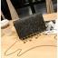 [ พร้อมส่ง ] - กระเป๋าคลัทช์ สะพาย สีดำ ดีไซน์สวยหรู ฟรุ้งฟริ้ง วิ้งค์ๆทั้งใบ ขนาดกระทัดรัด งานสวยมากๆค่ะ thumbnail 1