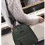 [ พร้อมส่ง Hi-End ] - กระเป๋าเป้แฟชั่น สีเขียวเข้ม ดีไซน์สวยเรียบหรู ดูดีสไตล์แบรนด์ งานหนังคุณภาพดี ช่องเยอะงานสวย thumbnail 4