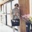 [ พร้อมส่ง - HI-End ] - กระเป๋าสะพายไหล่แฟชั่น สีดำคลาสสิค ใบใหญ่ปักลายน่ารักๆ ทรง Shopping Bag ดีไซน์สวยเรียบหรู ดูดี งานหนังคุณภาพดีมากๆๆ ช่องใส่ของเยอะ thumbnail 19