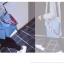 [ พร้อมส่ง ] - กระเป๋าสะพายไหล่แฟชั่น สีฟ้า ทรงถัง + กระเป๋าใบเล็ก 1 ใบ ดีไซน์สวยเรียบหรู ดูดี งานหนังคุณภาพดี พร้อมสายสะพายสุดเก๋ thumbnail 5