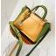 [ พร้อมส่ง ] - กระเป๋าถือ/สะพาย สีทูโทนเหลืองเขียว ใบเล็กกระทัดรัด ตกแต่งโลโก้ F เก๋ๆ ดีไซน์สวยเรียบหรู ดูดี งานหนังคุณภาพดี thumbnail 16