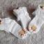 ถุงเท้าเด็กหญิง สีขาวระบายลูกไม้ ประดับดอกหลากสี สำหรับเด็ก 3 - 9 ปี thumbnail 3